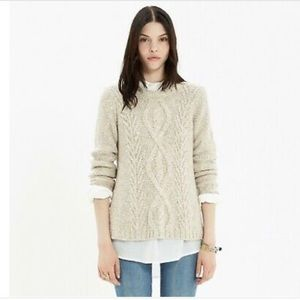 Madewell light brown cable knit sweater - Size XS